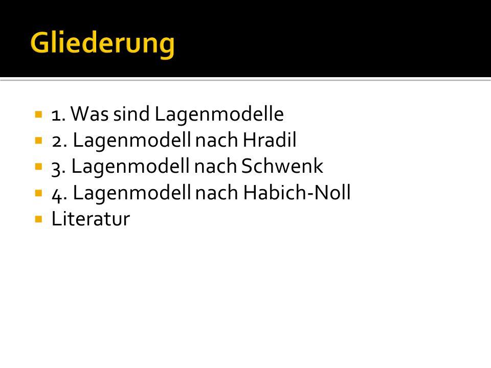 Gliederung 1. Was sind Lagenmodelle 2. Lagenmodell nach Hradil