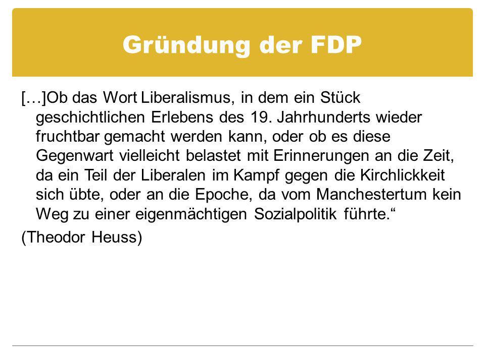 Gründung der FDP