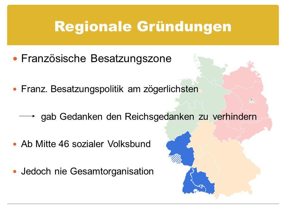 Regionale Gründungen Französische Besatzungszone