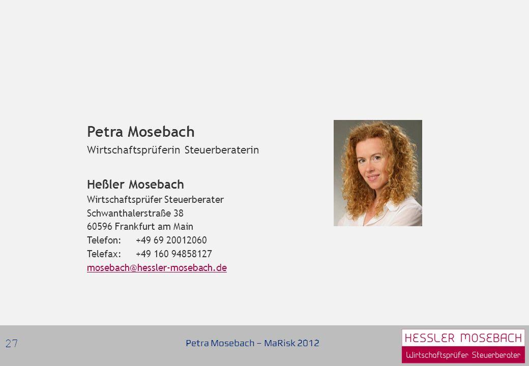 Petra Mosebach Heßler Mosebach Wirtschaftsprüferin Steuerberaterin