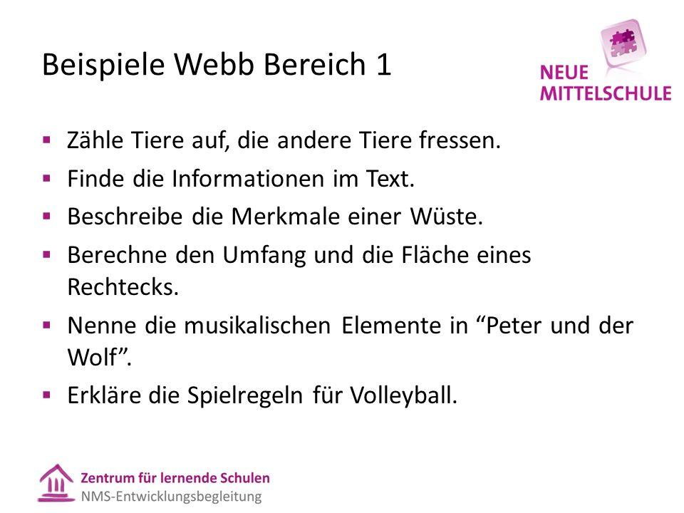 Beispiele Webb Bereich 1