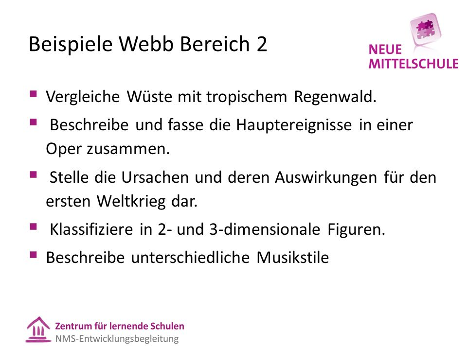 Beispiele Webb Bereich 2