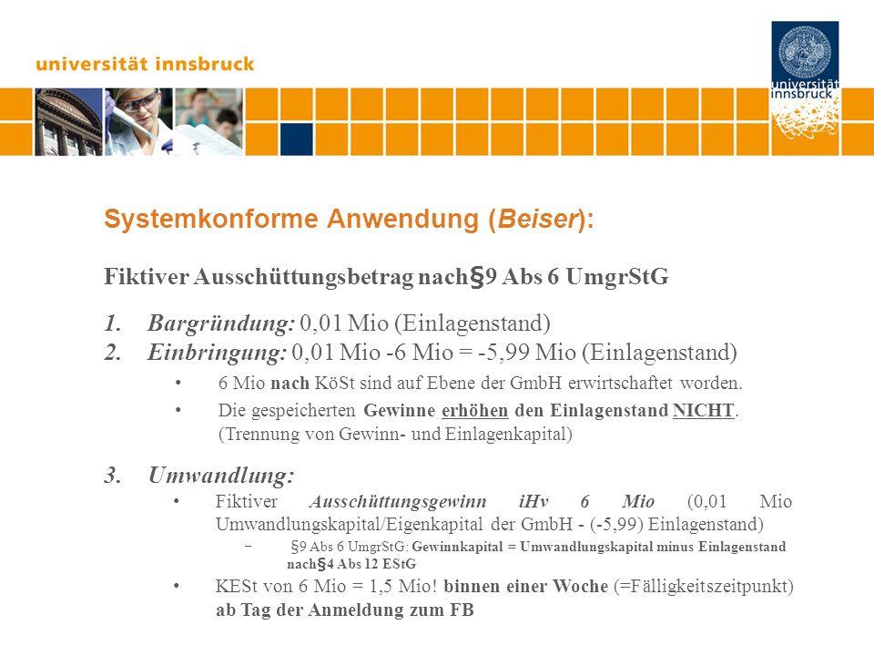 Systemkonforme Anwendung (Beiser):