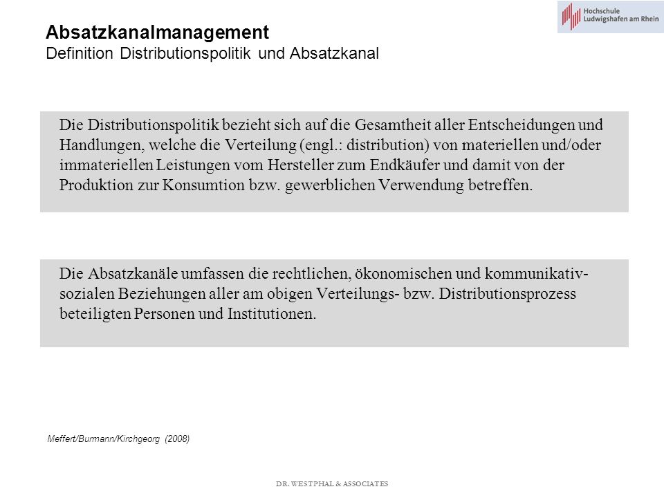 Absatzkanalmanagement Definition Distributionspolitik und Absatzkanal