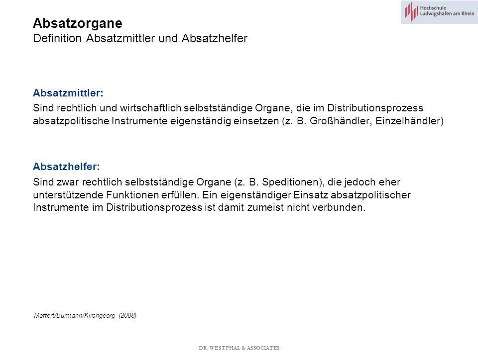 Absatzorgane Definition Absatzmittler und Absatzhelfer