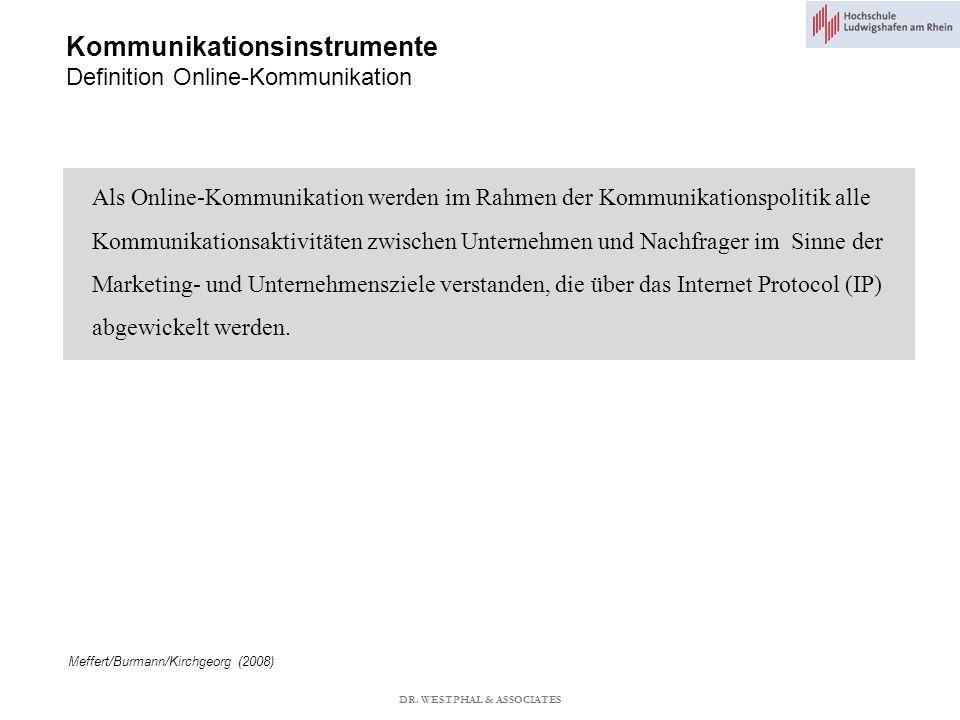 Kommunikationsinstrumente Definition Online-Kommunikation