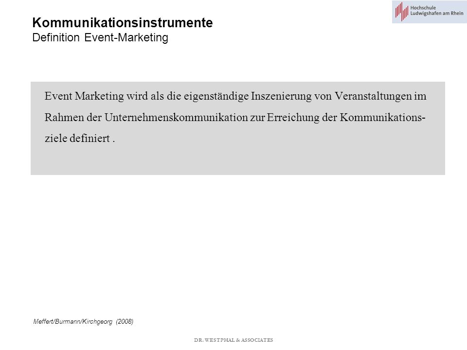 Kommunikationsinstrumente Definition Event-Marketing