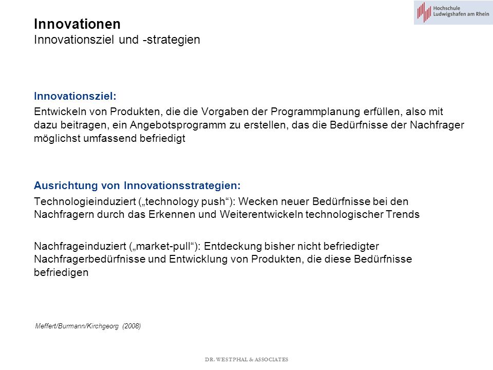 Innovationen Innovationsziel und -strategien