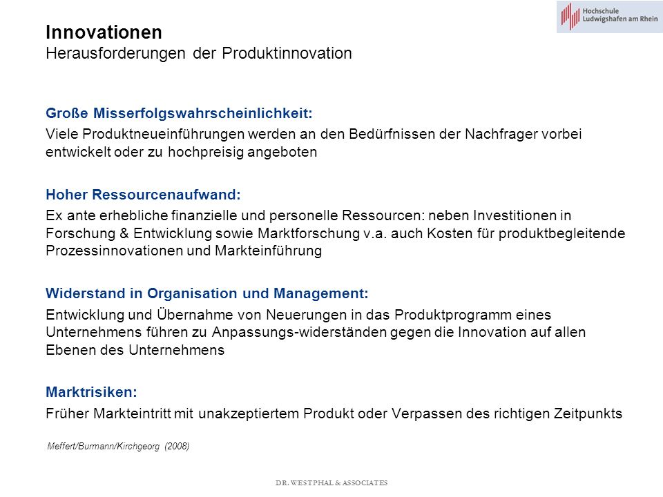 Innovationen Herausforderungen der Produktinnovation