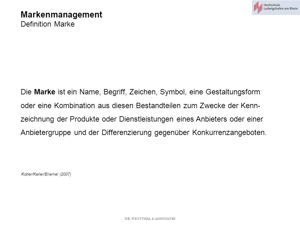 Markenmanagement Definition Marke