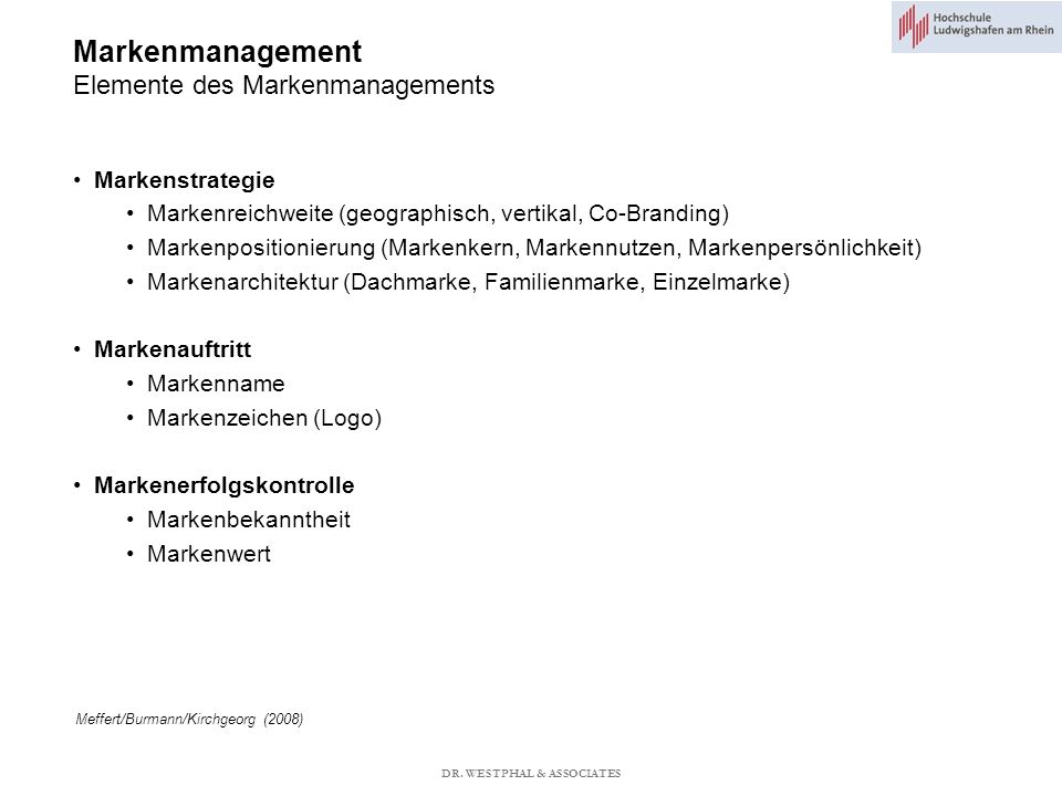 Markenmanagement Elemente des Markenmanagements