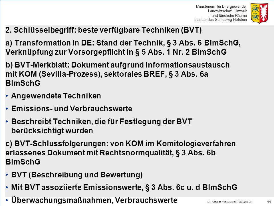 2. Schlüsselbegriff: beste verfügbare Techniken (BVT)