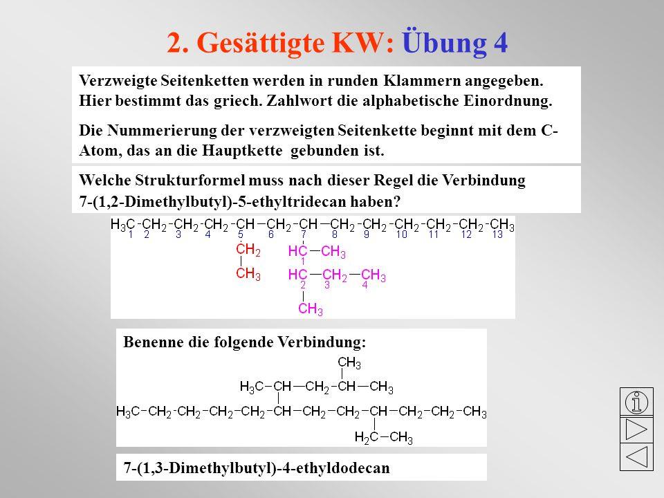 2. Gesättigte KW: Übung 4