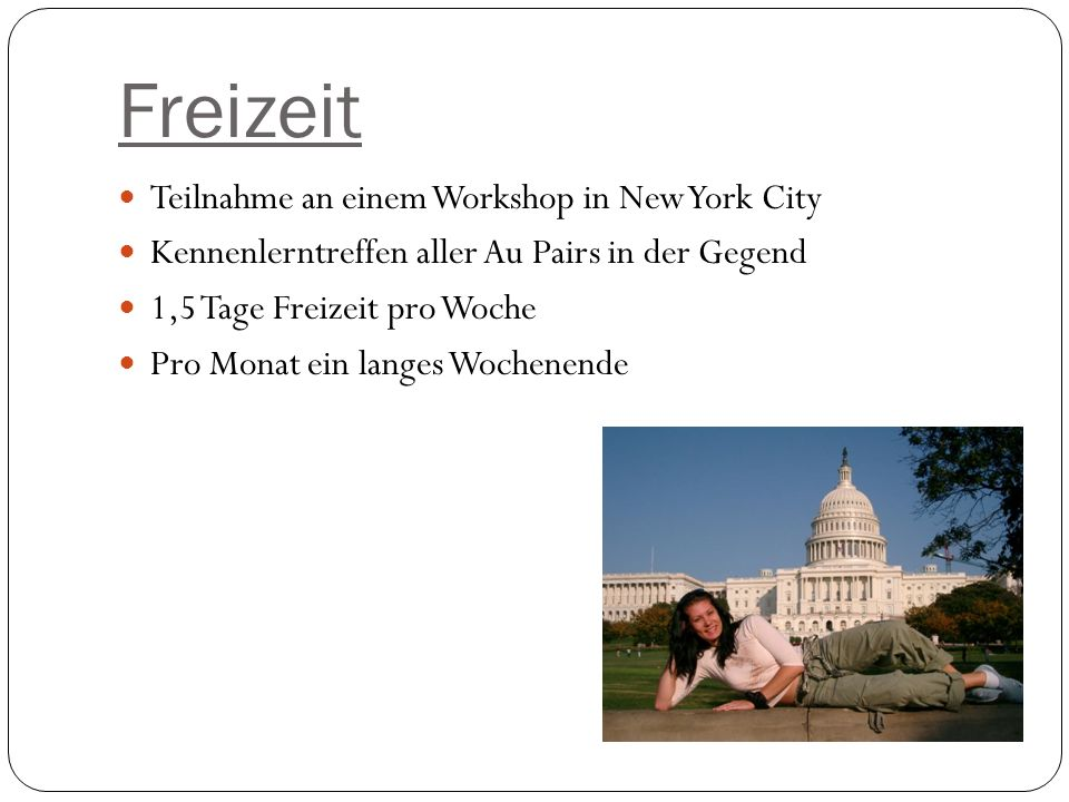 Freizeit Teilnahme an einem Workshop in New York City