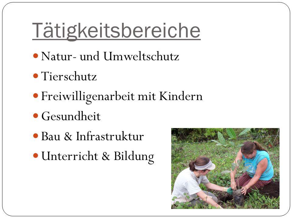Tätigkeitsbereiche Natur- und Umweltschutz Tierschutz