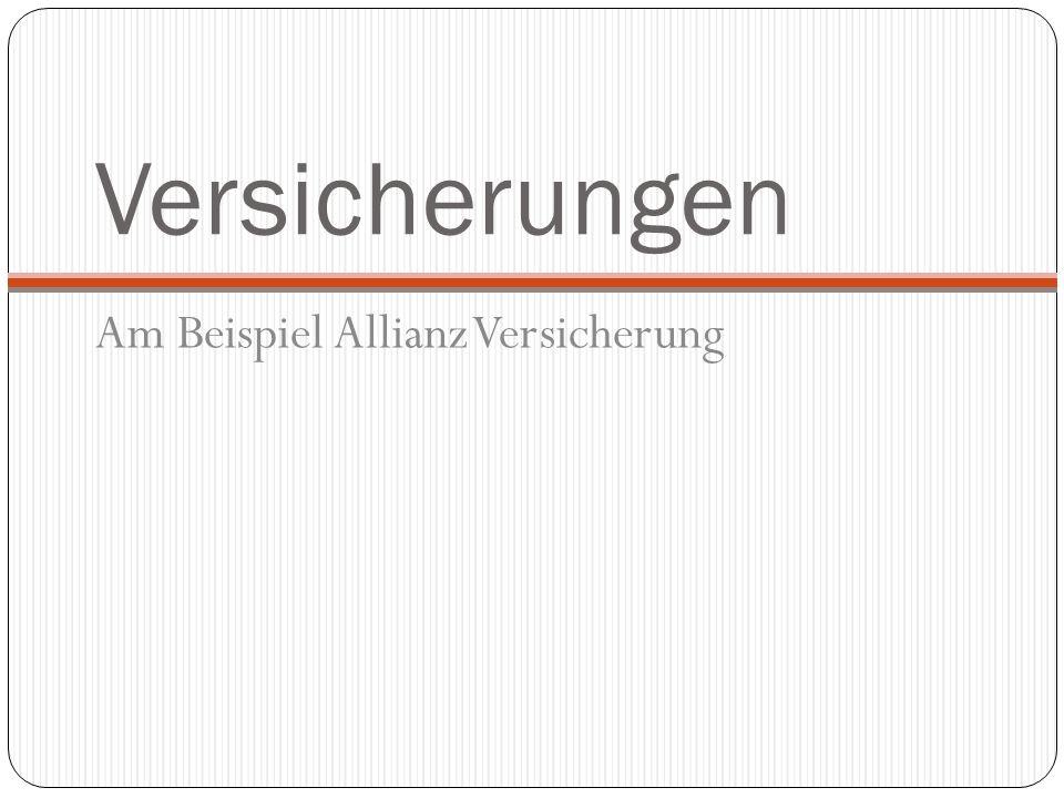 Versicherungen Am Beispiel Allianz Versicherung
