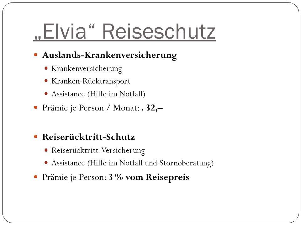 """""""Elvia Reiseschutz Auslands-Krankenversicherung"""