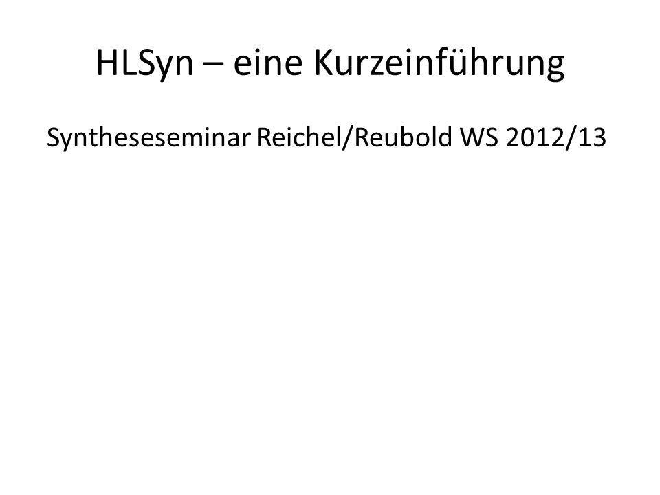 HLSyn – eine Kurzeinführung