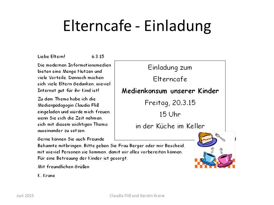 Elterncafe - Einladung