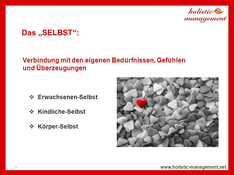 """Das """"SELBST : Verbindung mit den eigenen Bedürfnissen, Gefühlen"""