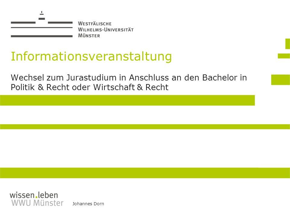 Informationsveranstaltung Wechsel zum Jurastudium in Anschluss an den Bachelor in Politik & Recht oder Wirtschaft & Recht