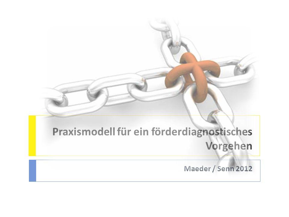 Praxismodell für ein förderdiagnostisches Vorgehen