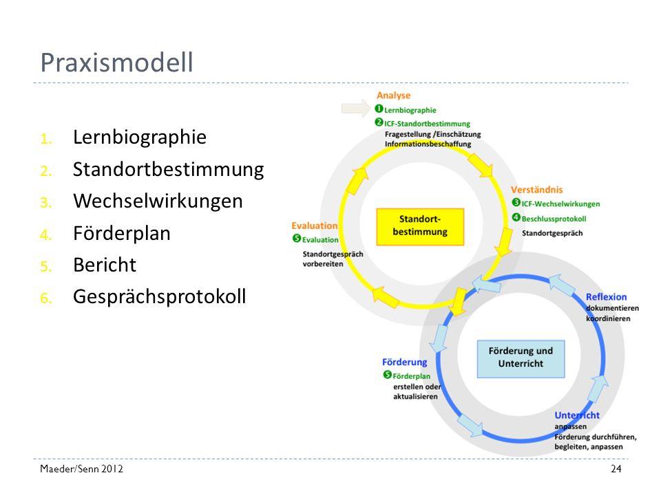 Praxismodell Lernbiographie Standortbestimmung Wechselwirkungen
