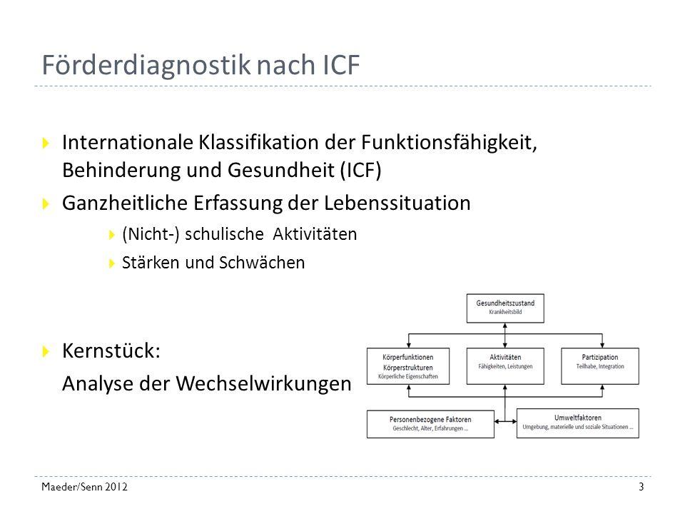 Förderdiagnostik nach ICF