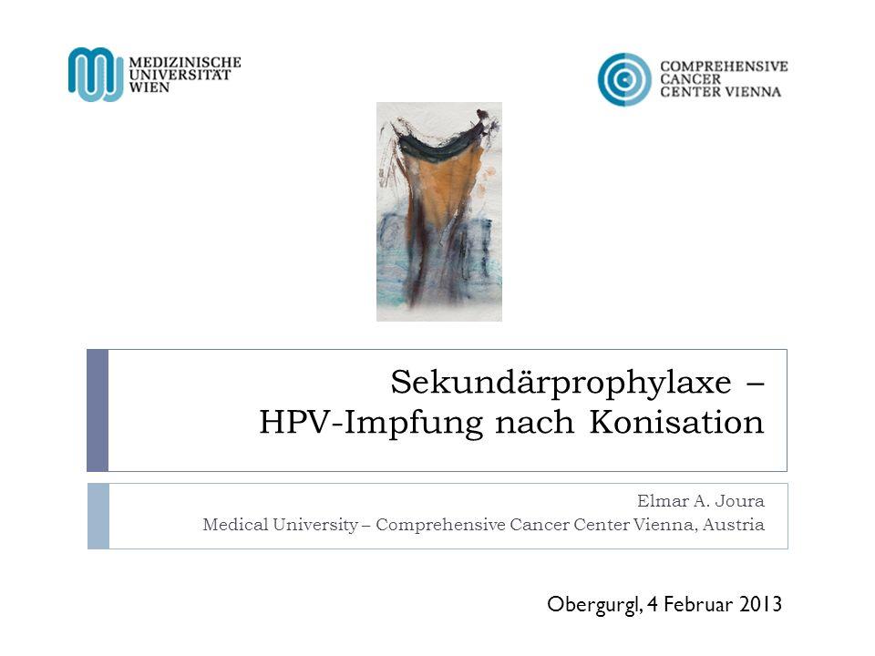 Sekundärprophylaxe – HPV-Impfung nach Konisation
