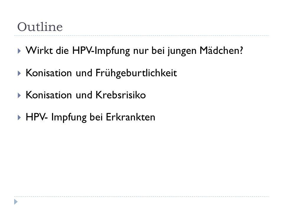 Outline Wirkt die HPV-Impfung nur bei jungen Mädchen