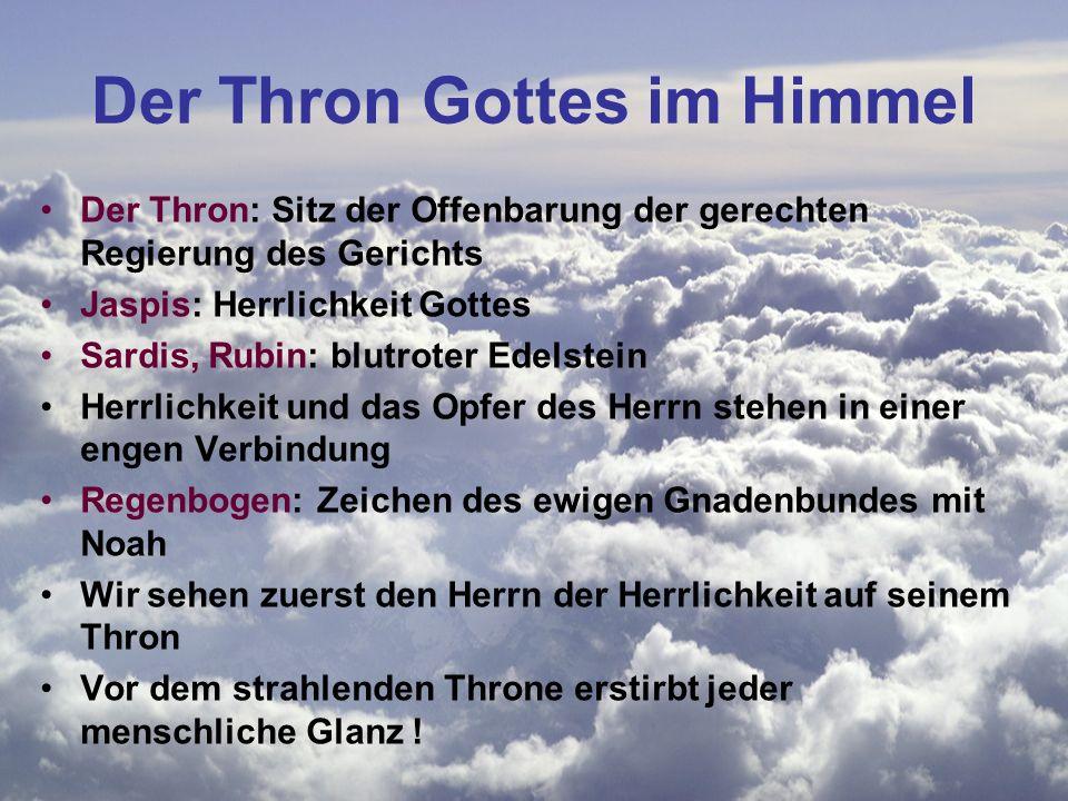 Der Thron Gottes im Himmel