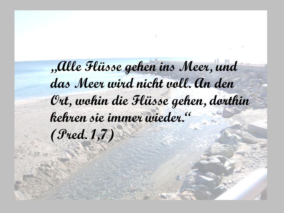 """""""Alle Flüsse gehen ins Meer, und"""