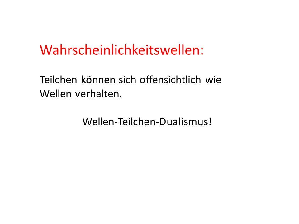 Wellen-Teilchen-Dualismus!
