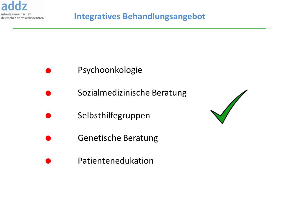 Integratives Behandlungsangebot