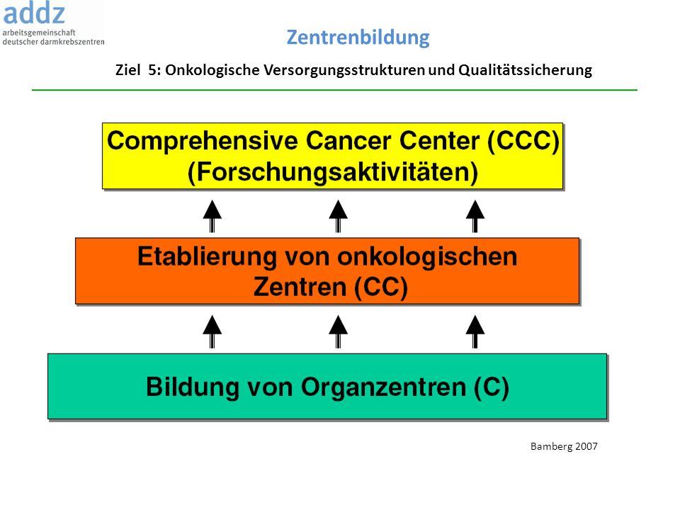 Ziel 5: Onkologische Versorgungsstrukturen und Qualitätssicherung