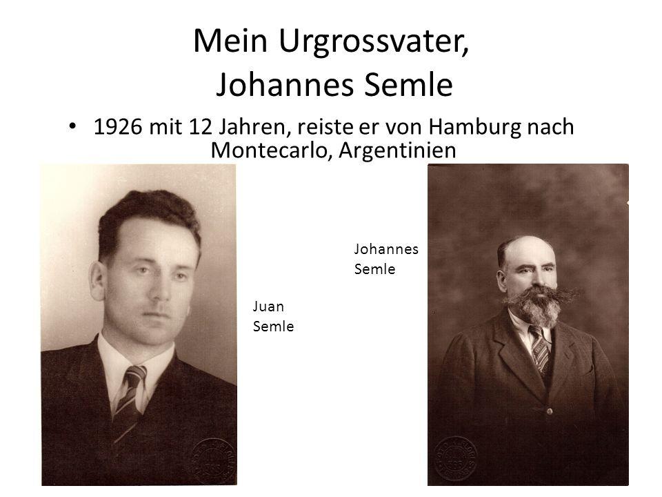 Mein Urgrossvater, Johannes Semle