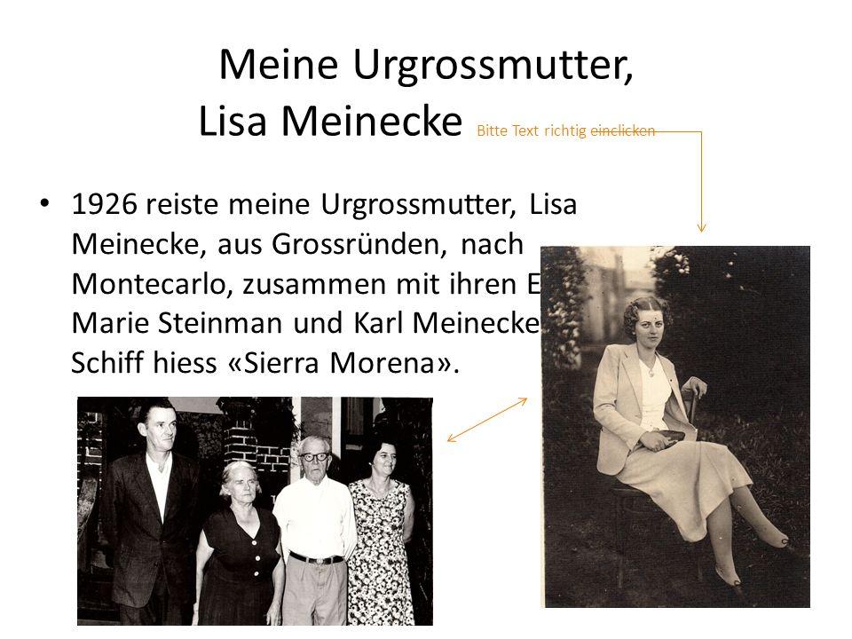 Meine Urgrossmutter, Lisa Meinecke Bitte Text richtig einclicken