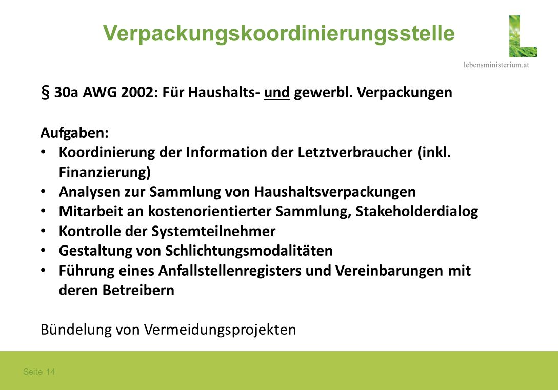 Verpackungskoordinierungsstelle
