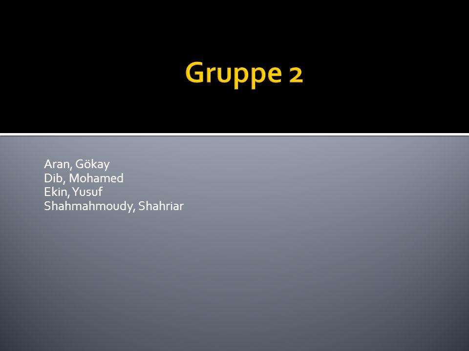 Gruppe 2 Aran, Gökay Dib, Mohamed Ekin, Yusuf Shahmahmoudy, Shahriar