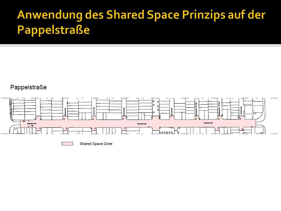 Anwendung des Shared Space Prinzips auf der Pappelstraße