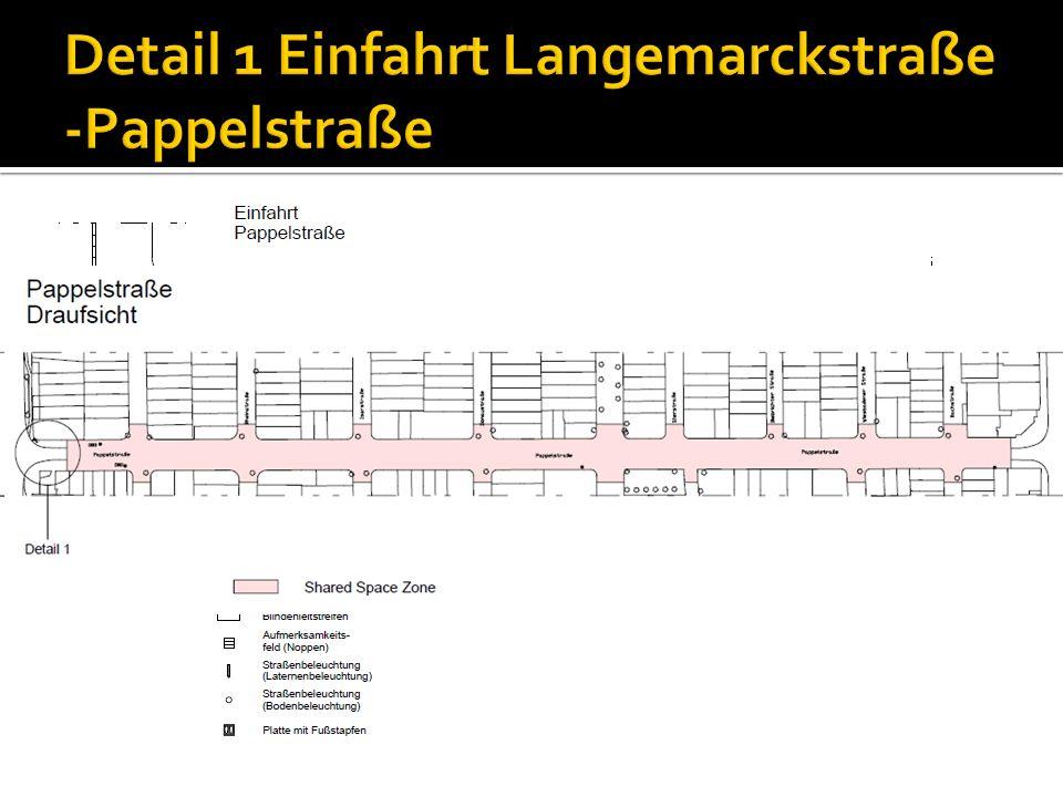 Detail 1 Einfahrt Langemarckstraße -Pappelstraße