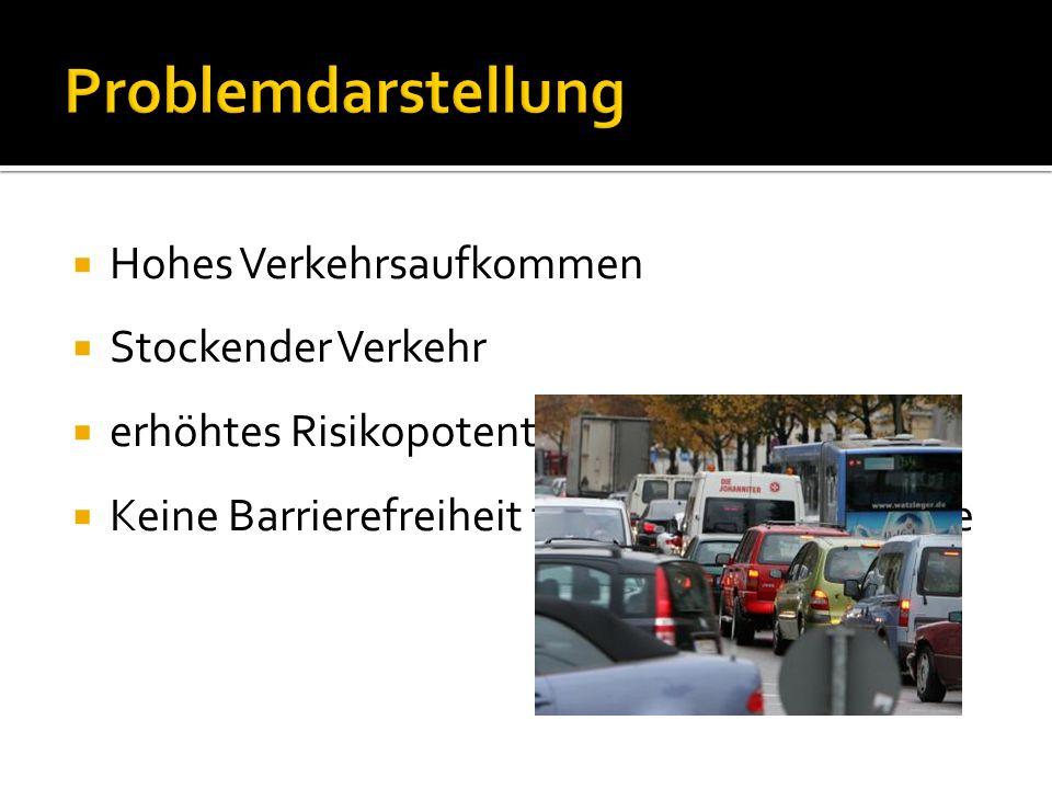 Problemdarstellung Hohes Verkehrsaufkommen Stockender Verkehr