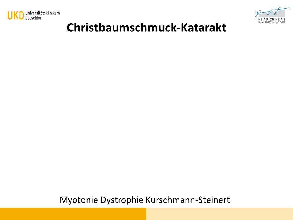 Christbaumschmuck-Katarakt
