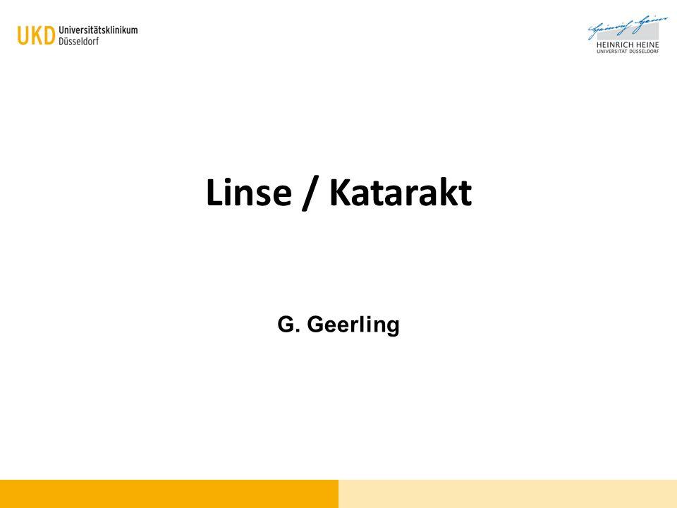 Linse / Katarakt G. Geerling