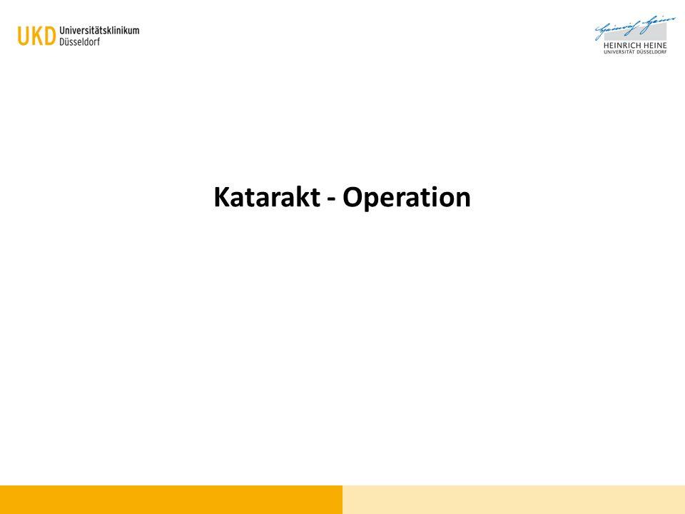 Katarakt - Operation