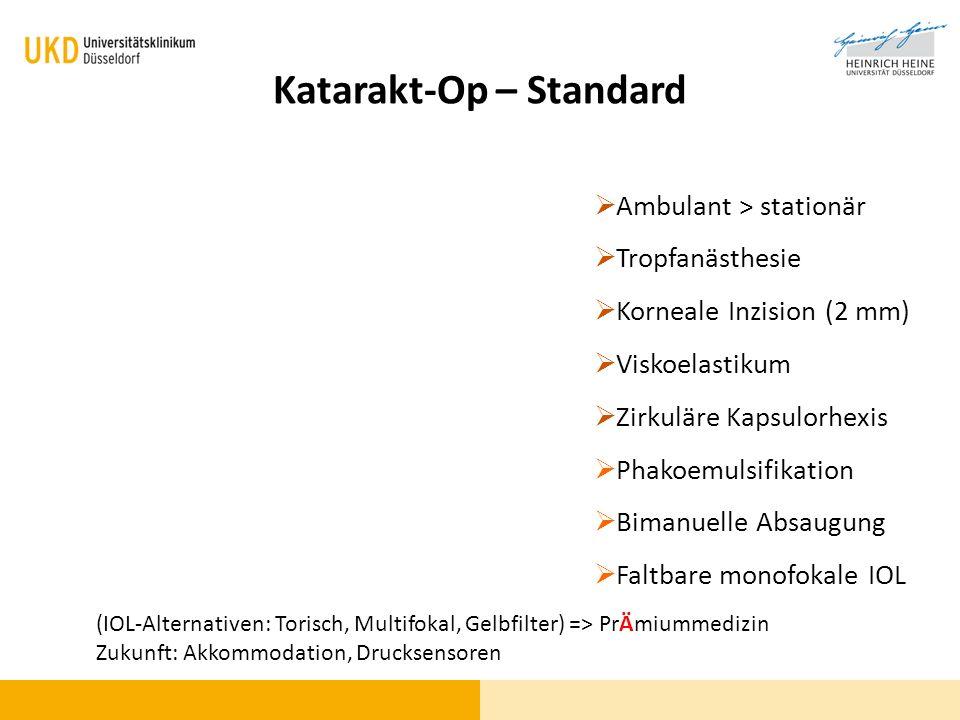 Katarakt-Op – Standard