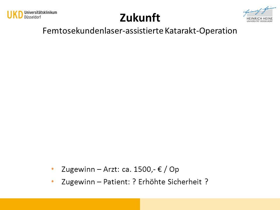 Zukunft Femtosekundenlaser-assistierte Katarakt-Operation