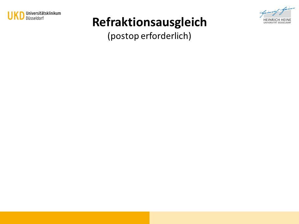 Refraktionsausgleich (postop erforderlich)