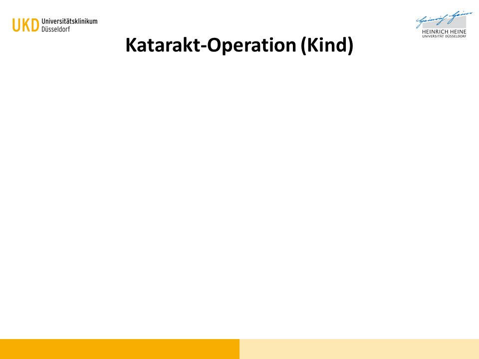 Katarakt-Operation (Kind)