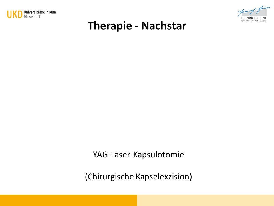 Therapie - Nachstar YAG-Laser-Kapsulotomie